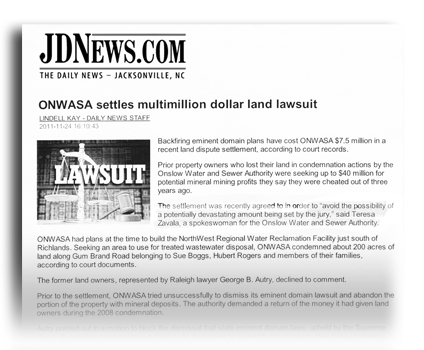 ONWASA Settles Multimillion Dollar Land Lawsuit headline